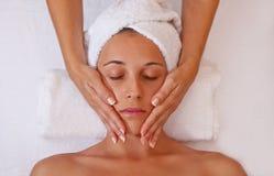 Twarz masaż Obrazy Royalty Free
