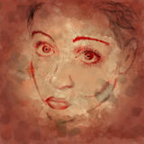 twarz nastolatek Obrazy Royalty Free