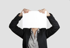 twarz papier Zdjęcia Stock