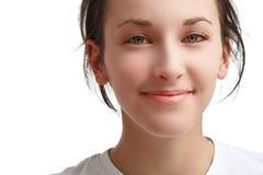 Twarz piękna uśmiechnięta dziewczyna obraz royalty free