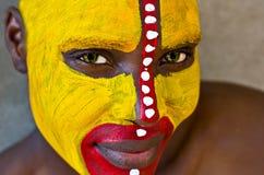 twarz plemienna Zdjęcie Royalty Free