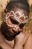 twarz plemienna Zdjęcia Royalty Free