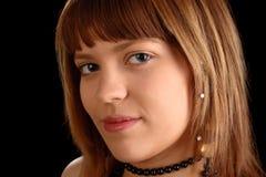 twarz portret dziewczyny Zdjęcia Stock