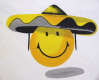 twarz positiv żółty Fotografia Royalty Free