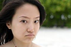 twarz przygnębiona Obrazy Stock
