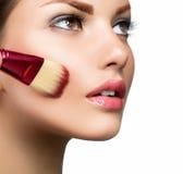 twarz robi makeup robić Obrazy Stock