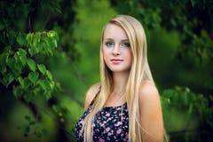 twarz się portret dziewczyny zaskoczeni young Zdjęcie Royalty Free