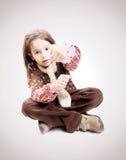 twarz się portret dziewczyny zaskoczeni young Obraz Stock