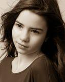 twarz się portret dziewczyny zaskoczeni young Zdjęcia Royalty Free