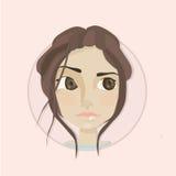 twarz się portret dziewczyny zaskoczeni young Zdjęcie Stock