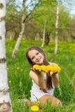 twarz się portret dziewczyny zaskoczeni young Fotografia Royalty Free