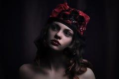 twarz się portret dziewczyny zaskoczeni young Portret Zdjęcie Stock