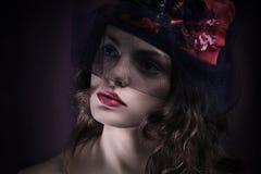 twarz się portret dziewczyny zaskoczeni young Portret Obraz Stock