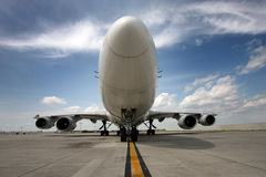 Twarz w twarz widok samolot Obrazy Stock