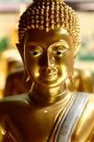 Twarz złoty Buddha Obrazy Stock