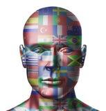 twarz zaznacza świat Obrazy Stock