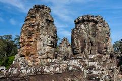 Twarze Angkor Thom, Kambodża - obraz royalty free