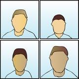 twarze anonimowe Obrazy Royalty Free