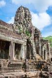 Twarze antyczna Bayon świątynia Przy Angkor Wat, Siem Przeprowadzają żniwa, Kambodża fotografia stock