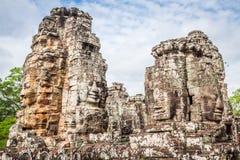 Twarze antyczna Bayon świątynia Przy Angkor Wat, Siem Przeprowadzają żniwa, Kambodża obrazy stock