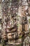 Twarze antyczna Bayon świątynia Przy Angkor Wat, Siem Przeprowadzają żniwa, Kambodża zdjęcie royalty free