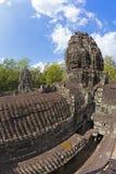 Twarze Bayon świątynia Obrazy Royalty Free