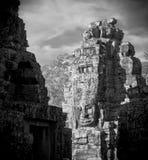 Twarze Bayon świątynia, Angkor, Kambodża obrazy royalty free
