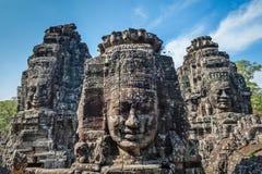 Twarze Bayon świątynia, Angkor, Kambodża zdjęcia stock
