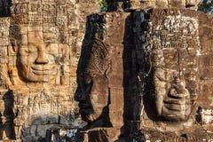 Twarze Bayon świątynia, Angkor, Kambodża obrazy stock