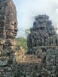 Twarze Bayon świątynia, Siem Przeprowadzają żniwa obraz royalty free