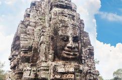 Twarze Bayon świątynia w Angkor Thom, Siemreap, Kambodża fotografia stock