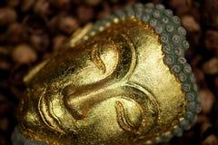 Twarze Buddha wizerunek nabierali zamknięty up obraz stock
