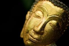 Twarze Buddha wizerunek w zakończenie stylu fotografia royalty free