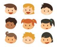Twarze dzieciaki Uśmiechów dzieciaki Fotografia Royalty Free