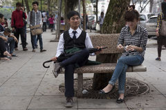 Twarze Hanoi Obrazy Stock