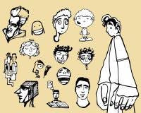 Twarze i bodies misc ilustracja wektor