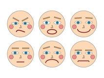 Twarze i emocje Obraz Stock