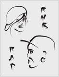 twarze stylizować Zdjęcie Royalty Free