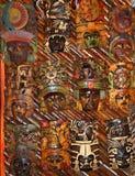twarze twarzy maskowy meksykański drewniany Obraz Stock