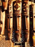 twarze twarzy maskowy meksykański drewniany Zdjęcia Royalty Free