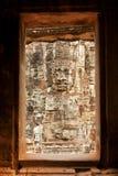 Twarze w Bayon świątyni przy zmierzchem, Angkor Wat zdjęcia stock