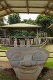 Twarze w San Agustin Archeological parku, Huilla, Kolumbia Obrazy Royalty Free