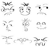 Twarzowa expressions Zdjęcia Stock