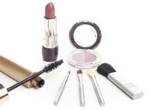 Twarzowi kosmetyki ustawiający Zdjęcia Stock