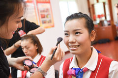 Twarzowy Makeup szkolenie Zdjęcie Stock