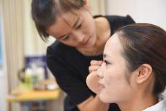 Twarzowy Makeup szkolenie Zdjęcia Royalty Free