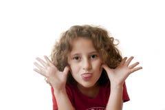 twarzy śmiesznej dziewczyny mały robienie Obrazy Stock