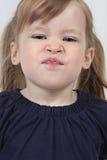 twarzy śmieszny dziewczyny ciągnięcie obraz stock