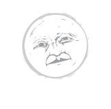twarzy (1) księżyc ilustracja wektor