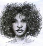 twarzy afrykańska dziewczyna ilustracja wektor